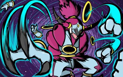 Hoopa Unbound | Hyperspace Fury by ishmam