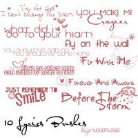 10 Lyrics Brushes by SoooMusic