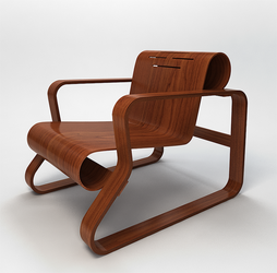 3d chair Alvar Aalto by Th4d