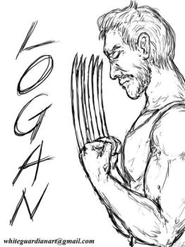 Logan SPEED SKETCH by whiteguardian