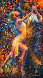 Dance Of Struggle by Leonid Afremov by Leonidafremov