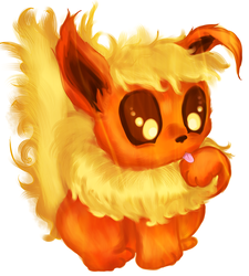 Baby Flareon by Checker-Bee