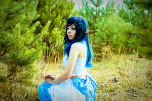 WhiteBlue Elf by RinDia4
