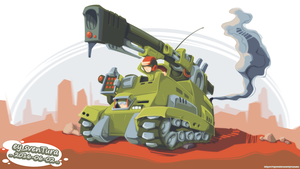 Desert Tank by Dillerkind