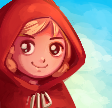 Old Red Riding Hood speed paint by NoA85