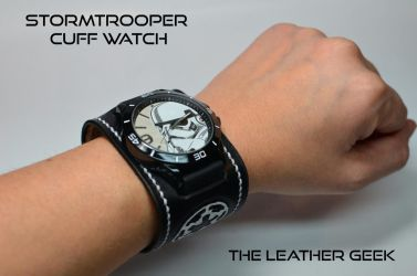 Stormtrooper leather cuff watch by CoreyChiev