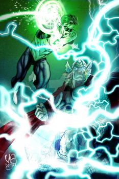Green Lantern and Thor