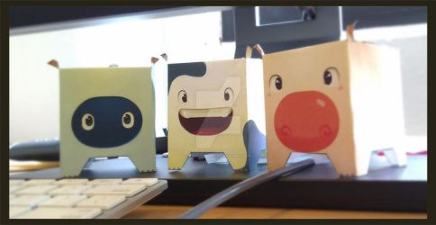 office deco paper toys by chuleCookie