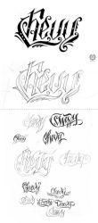 Chevy lettering by lordmx