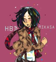 HBD to Mikasa in February 2nd by piyachanok07