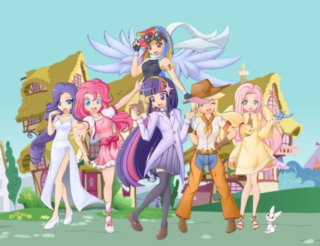 mlp girls human version by Glitter-Paint