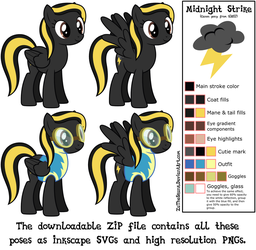 MLP Resource: Midnight Strike 01 (canon pony!) by ZuTheSkunk