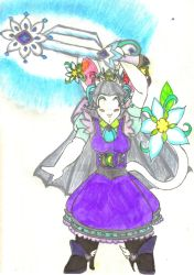 Lunamancer Serenity Brandishing a Snowflake Wand by Winter-Colorful
