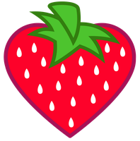 Heart-Shaped Strawberry Cutie Mark [Request] by Lahirien