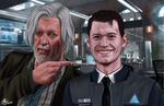 Connor's first smile by thortheavengergod