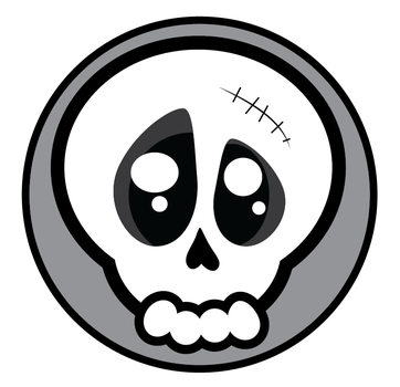 Editable vector skull logo by sum-blink