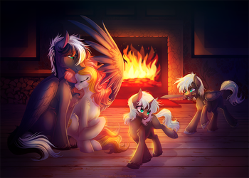 family idyll by LimreiArt