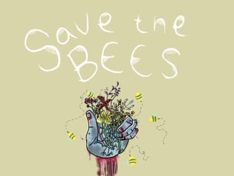 save the bees by The-twitching-candle