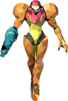 Samus low polygon by Glaedrax