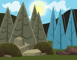 Total Drama Forest background by MigueLLima1999