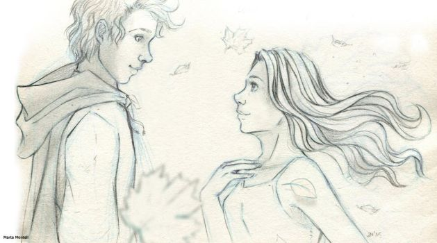Kvothe and Auri__leafs by MartAiConan