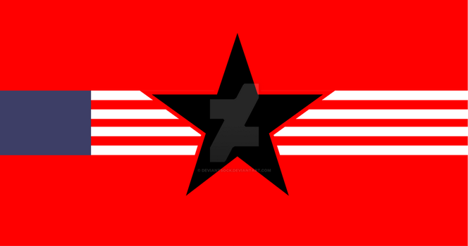 Syndicalist American Flag by deviantsock