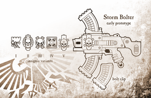 Storm Bolter Early Prototype WH40k by TRUEvector