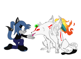 Dez meet amaterasu by BluethornWolf