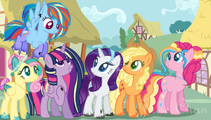 Mane 6 new style by Julie0Chan0Pony
