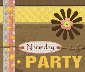 Scrapbook Card: Nameday Party by instantsoul