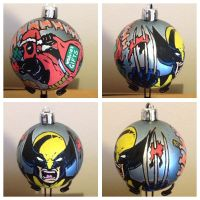 Wolverine / Deadpool christmas decoration by nicitadesigns
