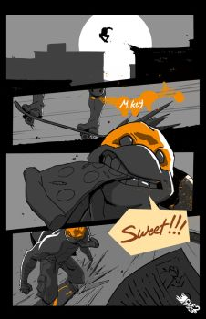 TMNT Mikey page 1 by CLE2