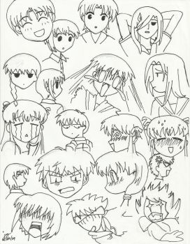 Fruits Basket Expressions by cjoyzv