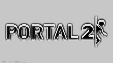 Portal 2 Wallpaper by RedAndWhiteDesigns