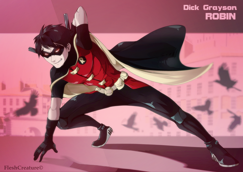 Robin -Dick Grayson by FleshCreature