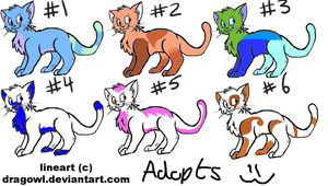 Adoptable cats 1 by Zoesadopts4u
