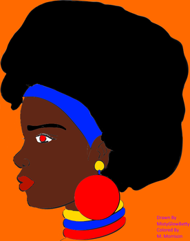 African Princess Colored by MorrisonTheWriter