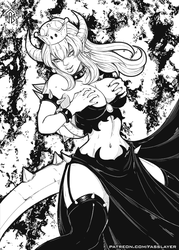 Bowsette lineart by FASSLAYER