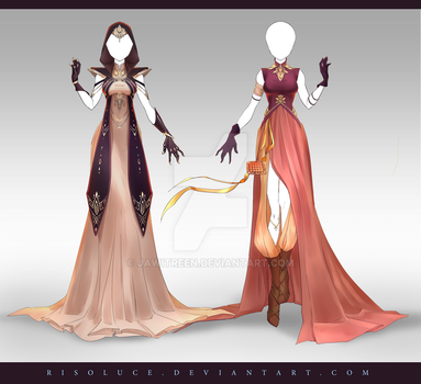 (CLOSED) Adoptable Outfit Auction 222 - 223 by JawitReen