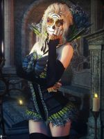 Santa Muerte I'm waiting by LaMuserie