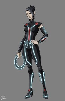 Tron: Uprising- Paige (Rebel) commission by phil-cho