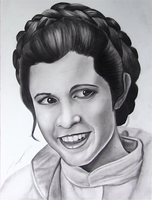Carrie Fisher Tribute - Princess Leia by AnthonyParenti