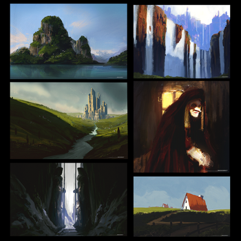 Personal Sketch Challenge day 1 - 6 by antonjorch