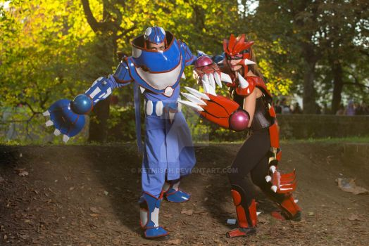 Kyogre and Groudon Cosplay by ketmisch