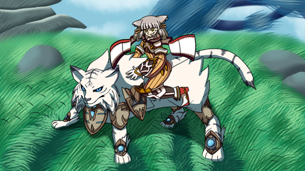 Nia And Dromarch by Stolken