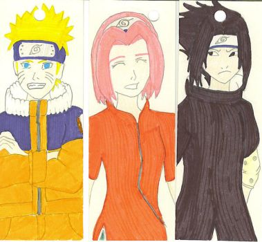 Team Seven Bookmarks by Aisuryuu