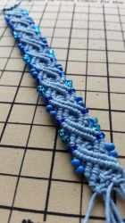 Blue Double Infinity Hemp Bracelet by silhouettes-spirits