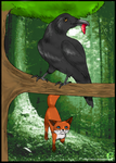 The Fox and The Crow by sinnamun