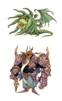 Final Fantasy monsters 3 by eoghankerrigan