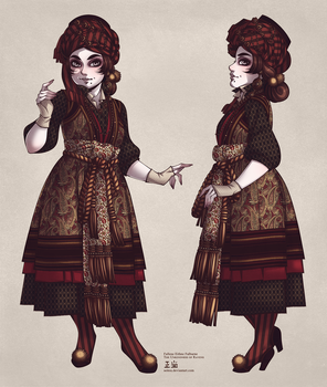 Fallene Eithne Falburne, Model Sheet II by Seitou